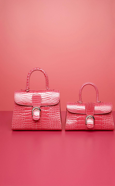 Brillant MM, Alligator Brillant : Rose Candy - Brillant East/West Mini, Alligator Brillant : Rose Candy