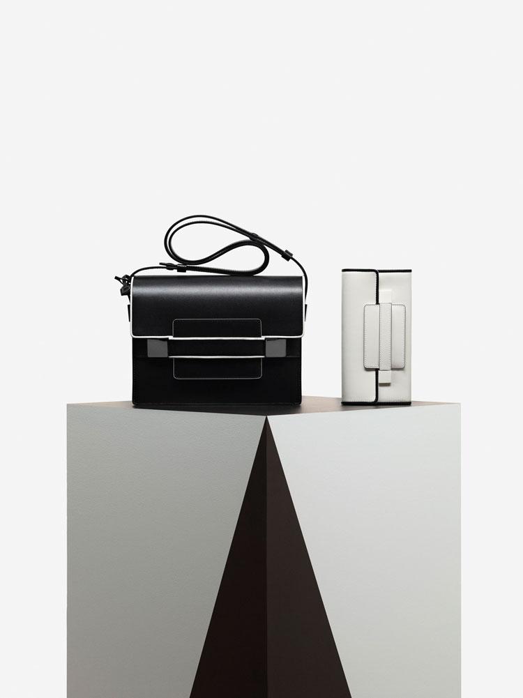 Madame, Illusion : Noir & Ivory - Madame Portefeuille Long, Illusion : Ivory & Noir