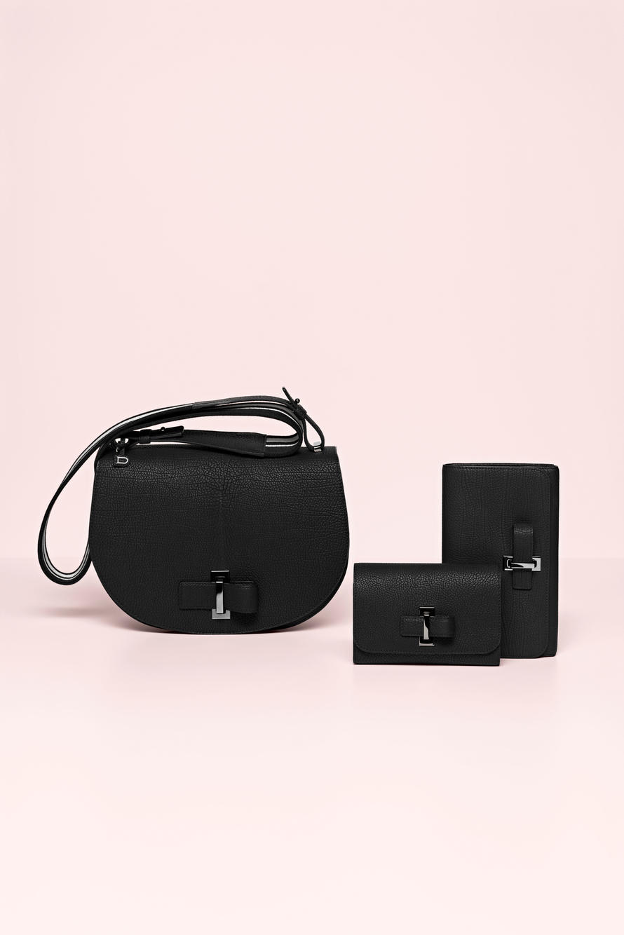 Le Mutin, Crispy Calf : Noir - Le Mutin Compact Wallet, Crispy Calf : Noir – Le Mutin Travel Wallet, Crispy Calf : Noir